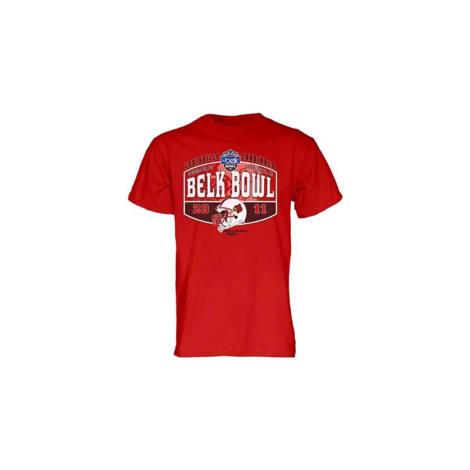 Louisville Cardinals Red 2011 Belk Bowl Backboard Football