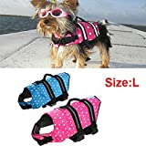 Saver Swimming Waterproof Float Safe Pet Dog Vest Life Jacket Swimwear Size L