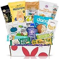 PALEO Diet Snacks Gift Basket: Mix of Whole Foods Protein Bars, Grain Free Granola, Cookies, Jerky Meat Sticks, Fruit & Nut Easter Snacks Healthy Sampler Box