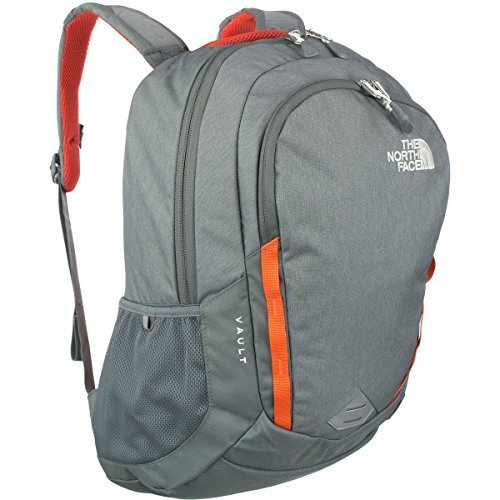 The North Face Women's Vault Backpack - Sedona Sage Grey Light Heather/Nasturtium Orange - One Size (Past Season) [並行輸入品] B07F4HGDDT