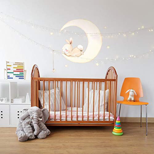 (Kismet Decals Bunny Moon Interior Decor Children Wall Sticker Kids Decal by Aida Zamora)