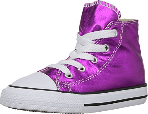 Converse Kids' Chuck Taylor All Star High Top (5 Toddler M, Magenta Glow/Black/White) (Girls White Converse High Tops)