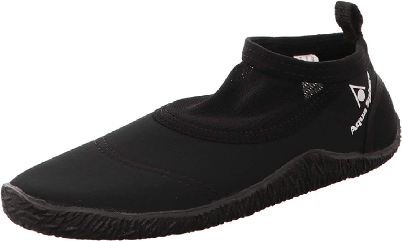 Black Size 40//41 Aqua Sphere Unisexs Beachwalker Neoprene Water//Beach Shoe