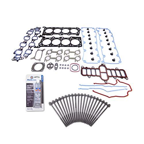 Head Gasket Set Bolt Kit Fits: 02-03 Ford F150 4.6L V8 SOHC 16v WINDSOR VIN 6