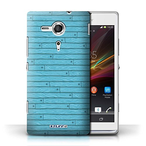 Coque de Stuff4 / Coque pour Sony Xperia SP/C5303 / Turquoise Design / Motif Bois Collection / par Deb Strain / Penny Lane Publishing, Inc.