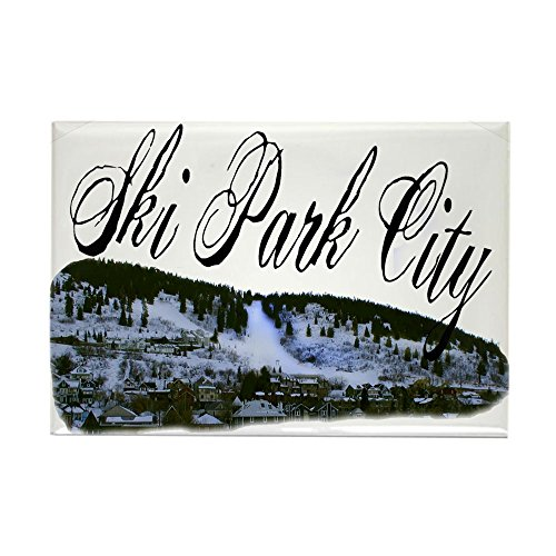 CafePress Ski Park City Rectangle Magnet, 2