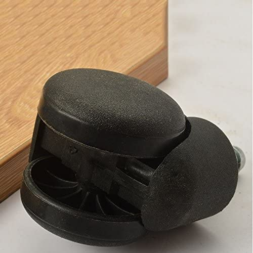 Negro Xigeapg 50mm Rueda castor de rodillo de silla de oficina Juego de 5