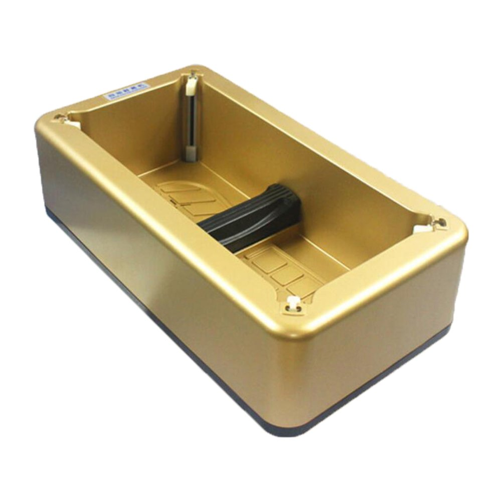 LJ&L Automatic shoe cover machine, engineering plastics, strong wear-resistant, laboratory, home living room shoe cover, presented 100pcs disposable shoe cover,gold,422112cm by LIUJIANGLONG (Image #1)