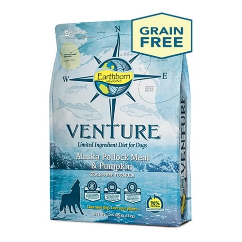 Earthborn Holistic Venture Alaska Pollock Meal And Pumpkin Limited Ingredient Diet Grain Free Dry Dog Food, 25 Lb.]()