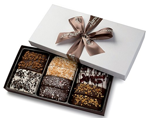 Gourmet Chocolate Biscotti Gift Basket (Bakery Gifts Delivered)