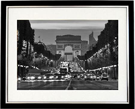 Champs elysee framed black white print of the champs elysee paris