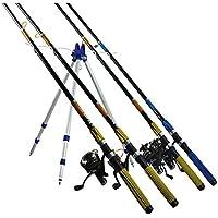 Cañero Trípode Hasta 4 Cañas Pescar Soporte Pesca