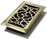 decor grates floor register 4x8 - Decor Grates A408 4-Inch by 8-Inch Victorian Floor Register, Solid Brass