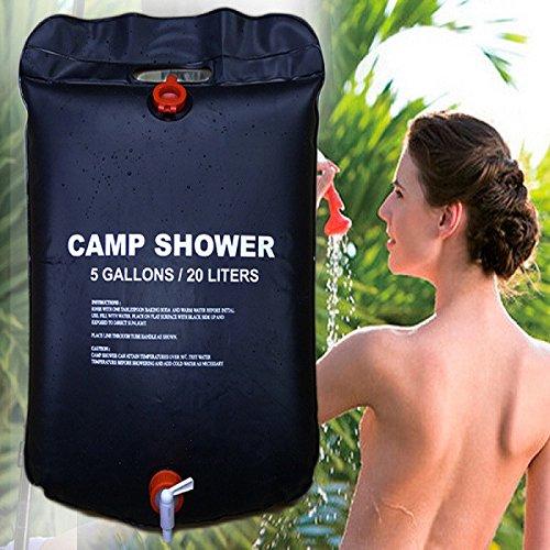20L Dusche Tasche faltbare Solarenergie beheizt Camp PVC-Wasser-Beutel Outdoor-Camping-Reisen Wandern Klettern Grill-Picknick Wasserspeicher