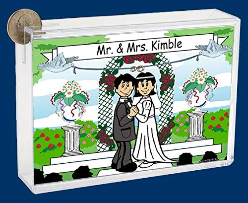 Personalized NTT Cartoon Side Slide Frame Gift: Our Wedding Gift, Anniversary, Wedding Celebration, Keepsake