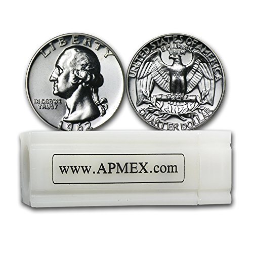 1932-1964 90% Silver Washington Quarters 40-Coin Roll Proof Quarter About Uncirculated
