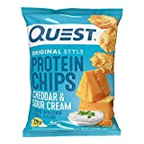 Quest Nutrition Protein Chips, Cheddar & Sour Cream, 1.1 Ounce (Pack of 12) - 1