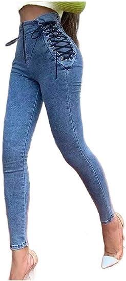 EnergyWD 女性ストレッチデニムロングパンツファッショナブルボディコンストレートジーンズ