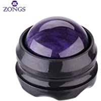 ZONGS Manual Massage Ball Pain Relief Back Roller Massager Self Massage Therapy & Relax Full Body Tools for Sore Muscle Joint Pain Essential Oils or Lotion Relax (Purple)