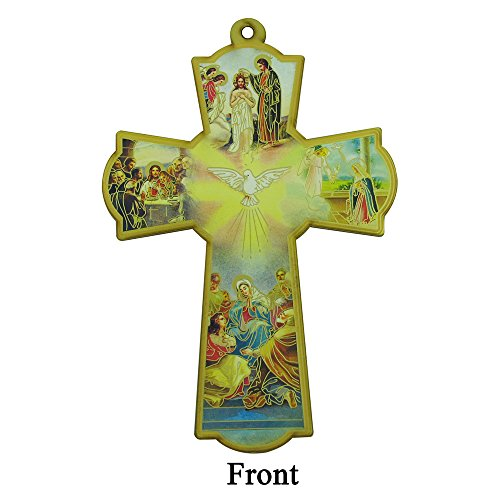 Baptism Wall Cross Favor in Decorated Organza bag 12pcs by WE (Image #1)