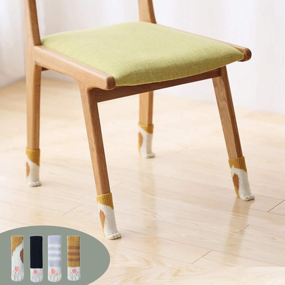 almohadillas protectoras para el suelo funda para patas de muebles 5 # silla de escritorio Yunnuopromi 4 piezas lindo dise/ño de patas de gato