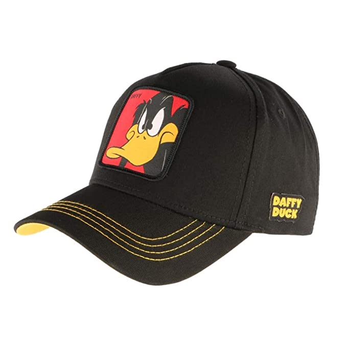 Capslab Gorras Looney Tunes Daffy Duck Black/Yellow Adjustable: Amazon.es: Ropa y accesorios