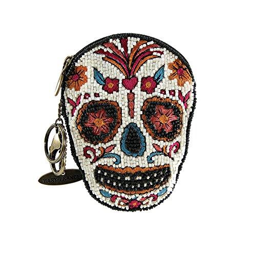 Mary Frances Bone To Pick Sugar Skull Beaded Coin Purse/Key Fob, -