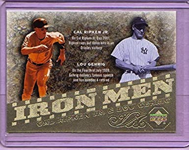 save off a02ab 1f7cb Amazon.com: 2007 Upper Deck Iron Men #IM22 Cal Ripken Jr ...