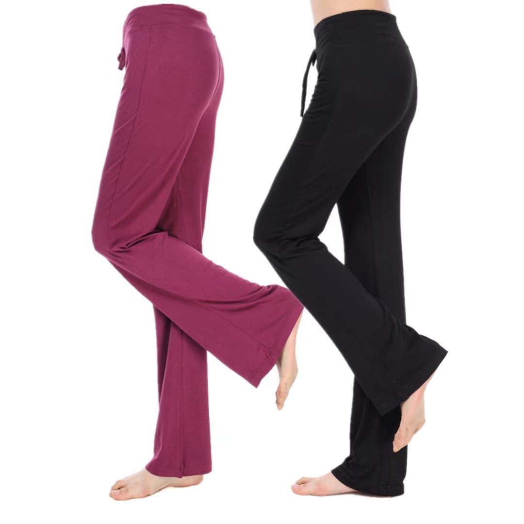Yoga Comfy Bootcut Classic Pants Workout Home Trousers High Stretch Pants Pluse Size
