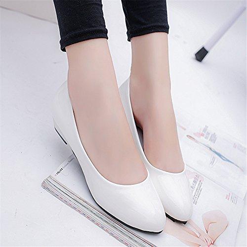 LIVY 2017 nueva pendiente con un solo zapato zapatos madre alrededor de OL zapatos casuales de carrera Blanco
