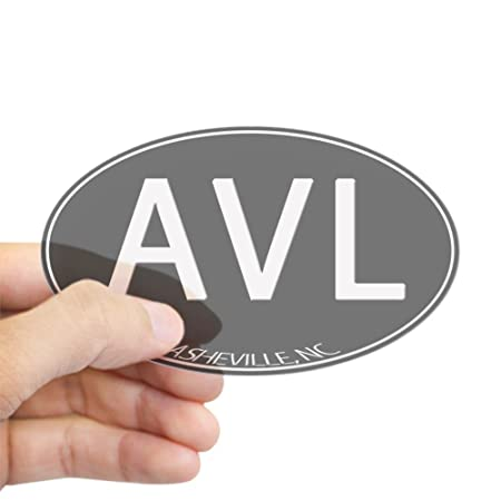 Cafepress asheville nc avl oval bumper sticker car decal