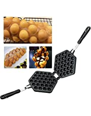 MAOPINER Bubble Waffle Maker Pan Waffle Cake Mold Pot Non-stick Double Side Egg Waffle Maker for Breakfast Lunch Household Cafe Restaurant Cake Shop