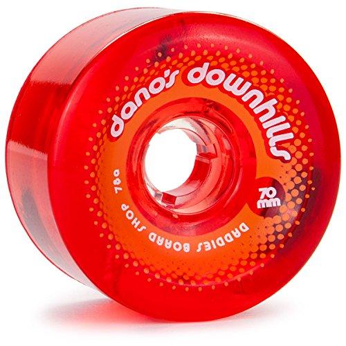 すでに前肝DaddiesボードショップDano 's Downhills Longboard Wheels 70 mm 78 aレッド