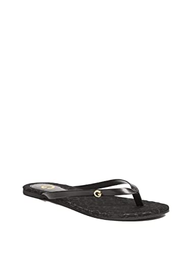 35342ec4b G by GUESS Women s Bayla Logo Flip-Flops Black