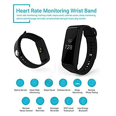Fitness Tracker, Toprime Activity Tracker Waterproof Smart Watch Band with Sleep Monitor, Pedometer for Andriod and iOS (T330)