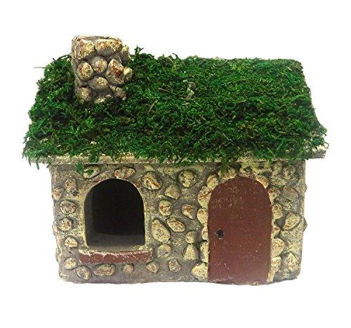 MayRich 6'' X 5'' Fairy Garden Mossy Cottage
