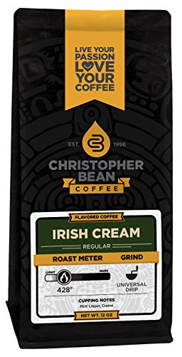 Irish Crème Ground, Flavored Decaffeinated Ground Coffee, 12-Ounce Bag