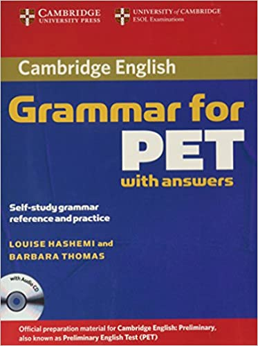 buy cambridge grammar for pet book with answers and audio cd self