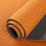 Original Panda Kit Yoga mat.Large,non-Slip &textured - SIZE 173CM LONG*61CM WIDE - 6MM THICK. Quality CARRY STRAP INCLUDED. Excellent for yoga, Pilates and exercise.Orange, eco -friendly and PVC FREE made from 100% TPE material, Panda kit yoga mats are durable EXCELLENT cushion for your exercise & yoga sessions at home or your local gym. Easy to travel with and great feel.