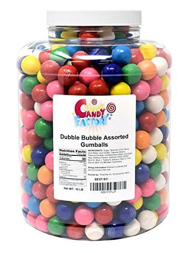 - Gumballs Dubble Bubble Assorted 1 Inch Gum balls 24mm in Jar, 10 Pounds