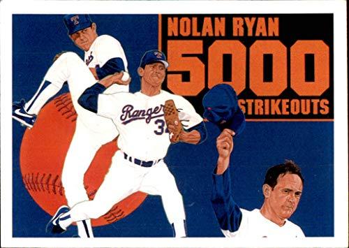(1990 Upper Deck #34 Nolan Ryan Special 5000 Strikeouts HOF TEXAS RANGERS )