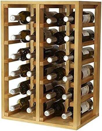 Expovinalia Botellero para 24 Botellas, Madera, Roble, 46x32x66 cm