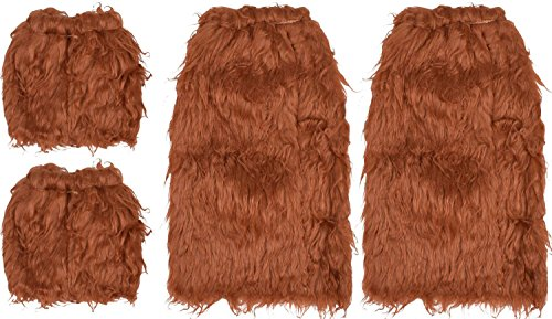 Faux Fur Brown Accessories for Halloween Costumes Adults Cosplay Parties