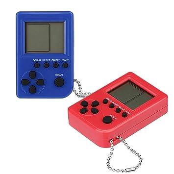 Amazon.com: Cywulin Retro Mini llavero colgante juego tetris ...