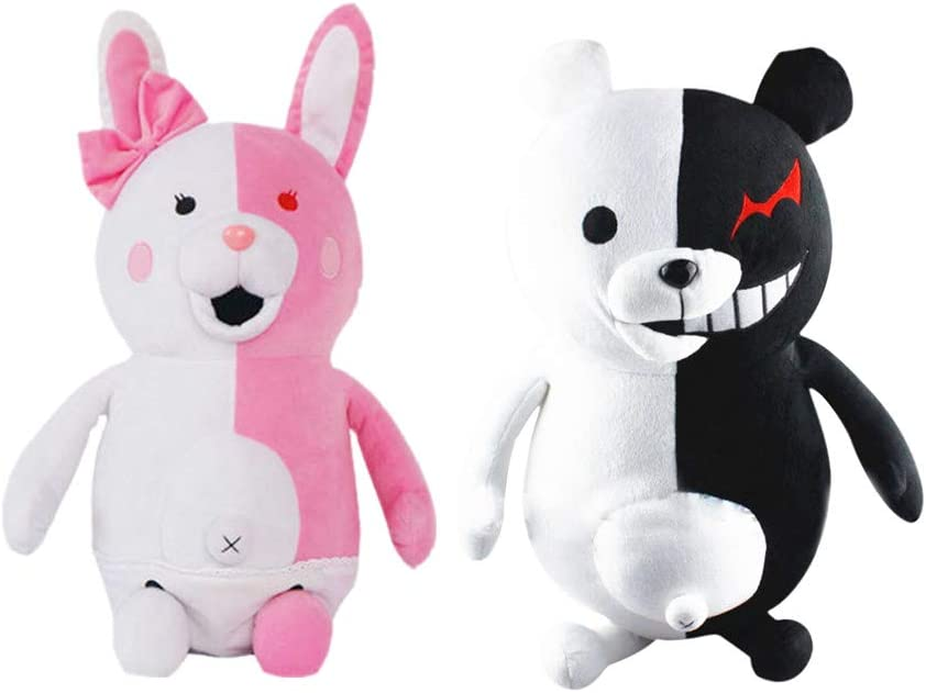 Game Danganronpa Monomi Rabbit Monokuma Bear Plush Stuffed Doll Kids Gifts Toys