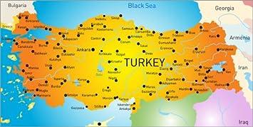 Posterlounge Holzbild 80 X 40 Cm Turkei Landkarte Von Editors