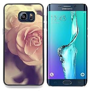"For Samsung Galaxy S6 Edge Plus / S6 Edge+ G928 Case , Rose Vignette Pink Spring Love Vintage"" - Diseño Patrón Teléfono Caso Cubierta Case Bumper Duro Protección Case Cover Funda"