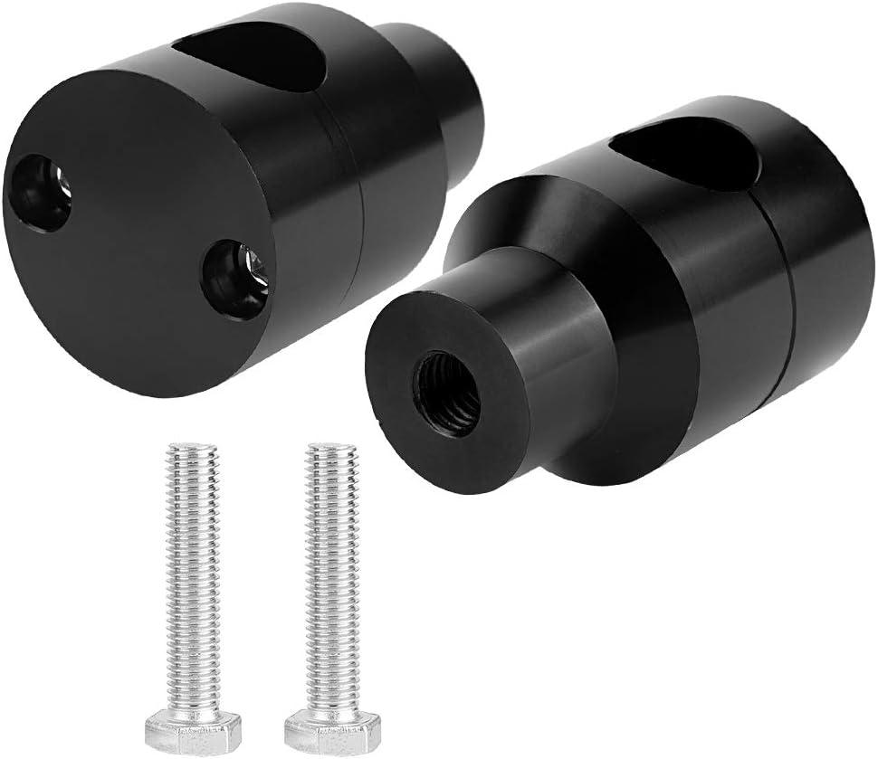 Paar Lift Lenker Riser 22mm Aluminiumlegierung f/ür Motorrad Modifikation Lenker Riser Schwarz