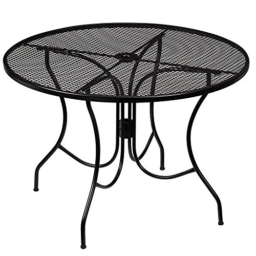 HB-101 Hampton Bay 42 In. Wrought Iron Nantucket Round Table (Table Wrought 42 Iron Round)
