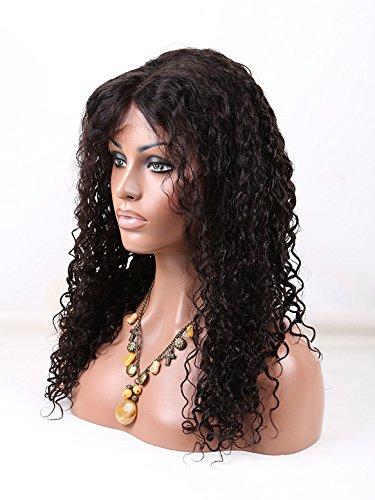360 Lace Wigs Brazilian Virgin Hair Kinky Culry Full Lace Human Hair Wigs For Black Women With Baby Hair (18inch)